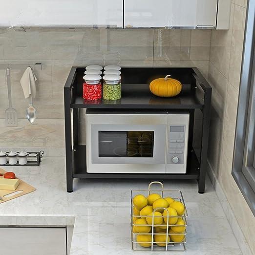 &&WKK Shelf Cocina De Almacenamiento Horno Doble Horno De ...