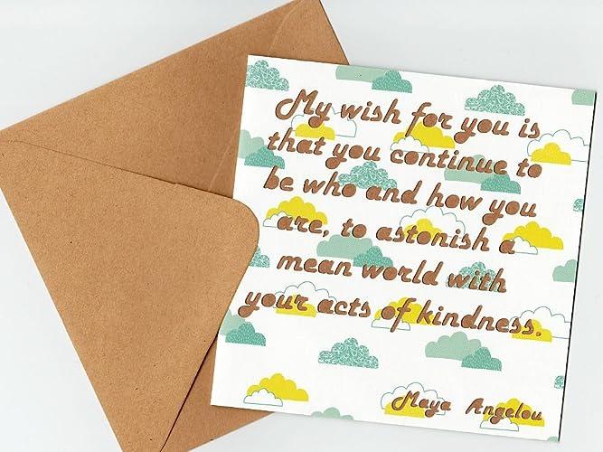 Amazoncom Maya Angelou Quotation Greeting Card Confidence