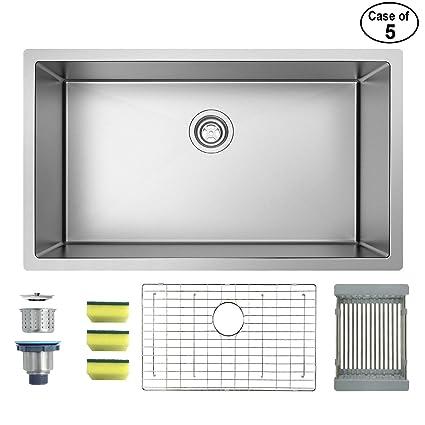Amazon.com: MENSARJOR fregadero de cocina de 32 pulgadas x ...