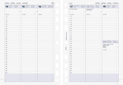 Brunnen 107910120 - Calendario semanal, sistema de horario ...