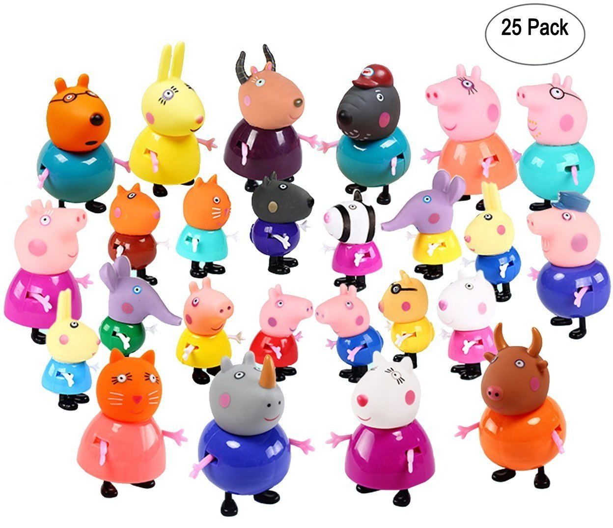 New 25 Pcs Peppa Pig Different Best Model Figure Toys For Kids product image