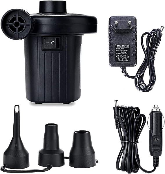 ZStarlite Bomba De Aire Eléctrica Portátil, Bomba De Aire para Colchones Inflables/deflactor para Piscinas, Barcos, Juguetes Hinchable o Camping, con ...