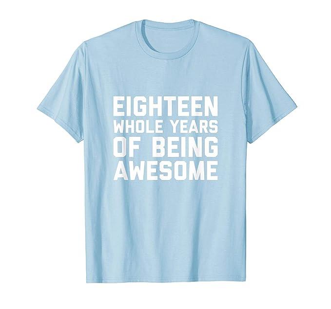 Mens 18th Birthday Shirt Gift Age 18 Year Old Boy Girl Eighteen 2XL Baby Blue