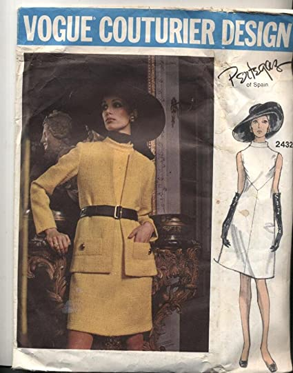 Amazon Vintage Vogue 2432 Manuel Pertegaz Dress And Jacket