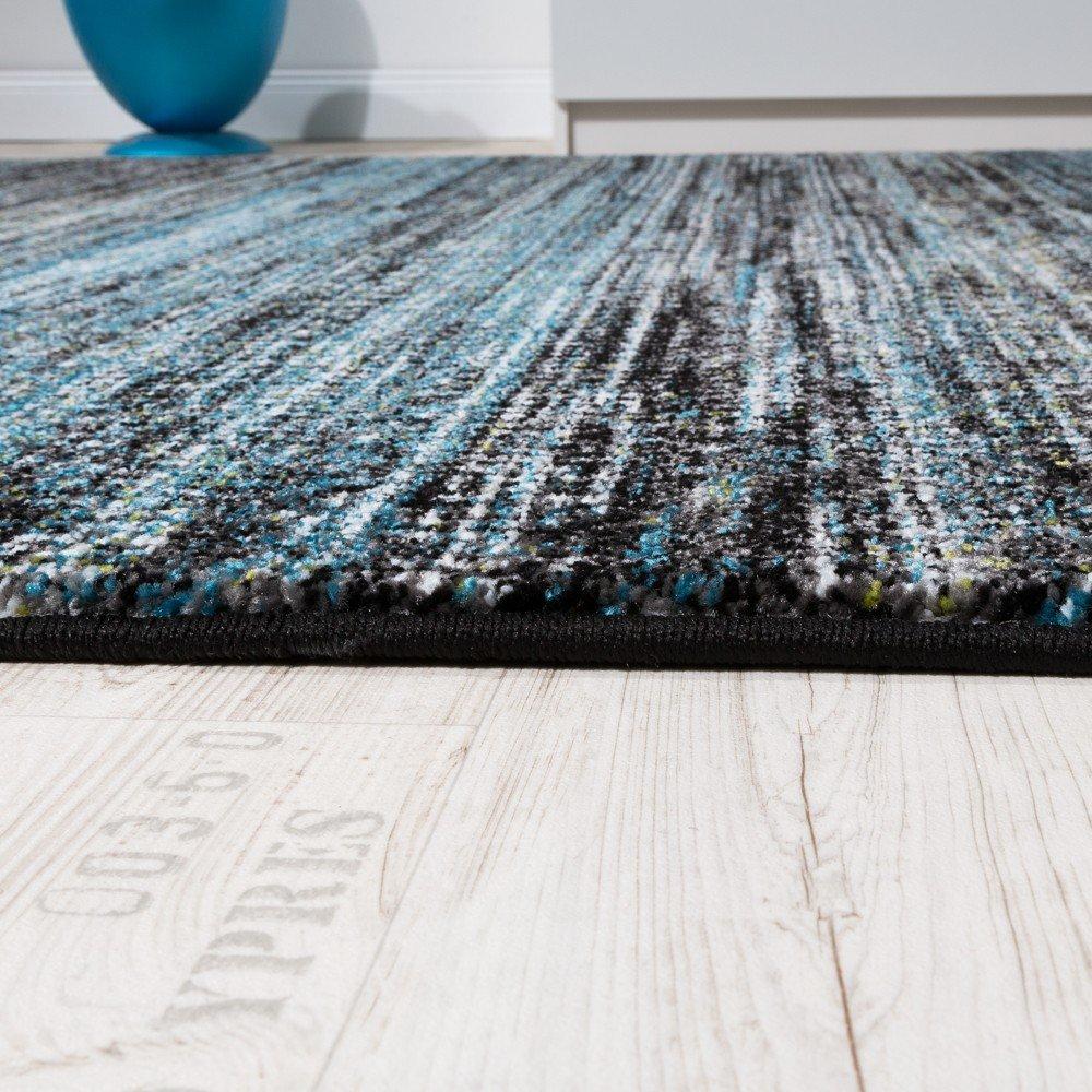 Paco Home Teppiche Modern Wohnzimmer Teppich Spezial Melierung Türkis Grau  Schwarz Creme, Grösse:80x150 Cm: Amazon.de: Küche U0026 Haushalt