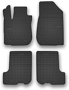 Frogum Gummimatten Auto Fußmatten Gummi Passgenau 4 Teiliges Automatten Set Schwarz Auto