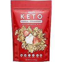 Low Karb - Keto Vanilla Strawberry Nut Granola Healthy Breakfast Cereal - Low Carb...