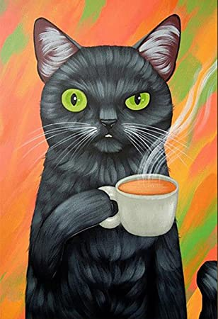Gato Diamante Pintura 5D DIY Caricatura Gato Completo Taladro Arte Resina Diamante de imitación Animal Pegar