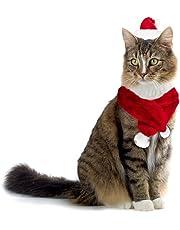 064234 Conjunto de bufanda y sombrero PAPÁ NOEL para gatos y perros pequeños 489c3cd32d33