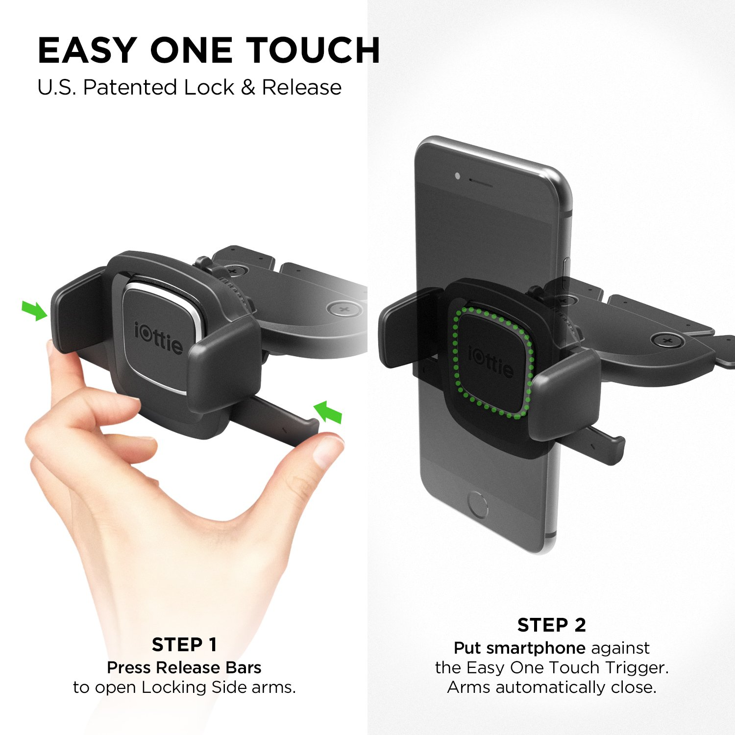 iOttie Easy One Touch 4 CD Slot Car Mount Phone Holder for iPhone X 8 Plus 7 Samsung Galaxy S9 S8 Edge S7 Note 8 & Other Smartphone by iOttie (Image #2)