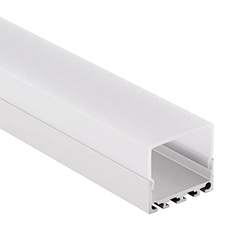 LED Aluminio Perfil PN Serie 2 metros de aluminio anodizado y Opal//transparente (