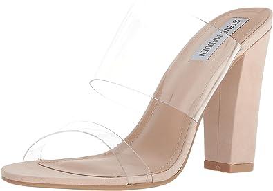 35246a8b2b0 Steve Madden Women's Jubilee Open Toe Casual Slide Sandals Natural 6 ...
