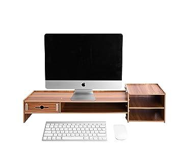 Lesfit Tisch Monitorständer Holz Bambus Monitorerhöhung