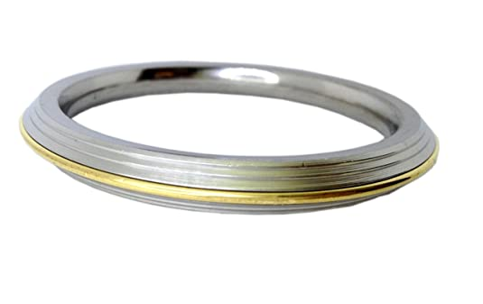 Brass & Stainless Steel Punjabi Kada bracelet for Men (1 cm thick) Bangles & Bracelets at amazon