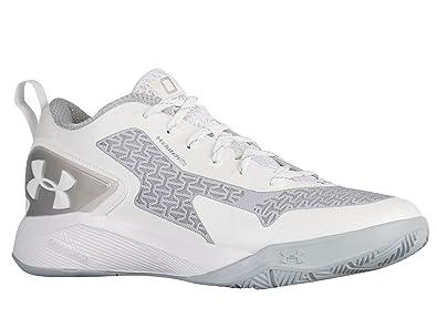 2af1d6c6bf2a Under Armour Mens ClutchFit Drive 2 Low Basketball Shoes White 9.5 Medium  (D)