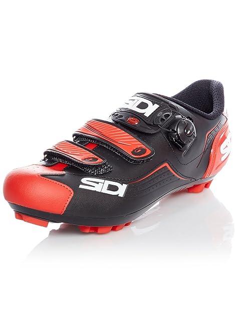 Zapatillas MTB Sidi Trace Negro-Rojo (EU 40, Rojo)