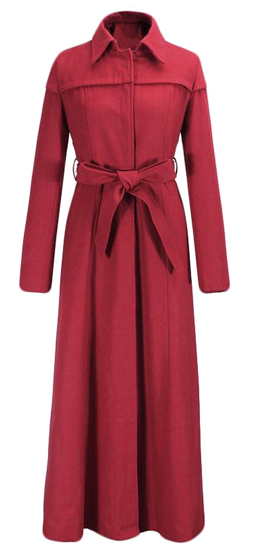Alion Women's Winter Fashion Belt With Wool Pea Coat