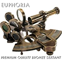 Euphoria nautique Bronze Sextant Laiton massif Bateau Astrolabe Instrument de navigation