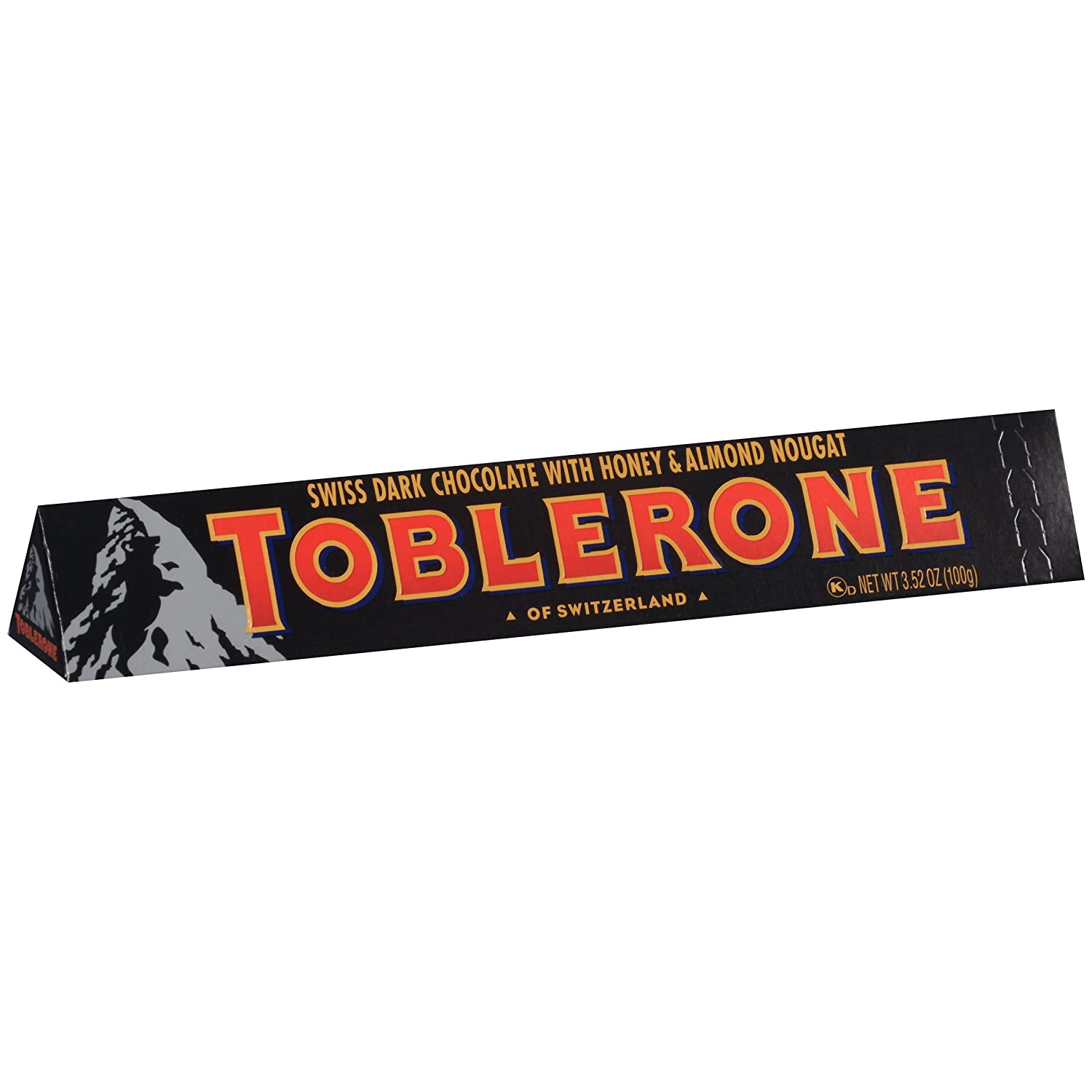 Toblerone Dark Chocolate Bar 352 Ounce Pack Of 12