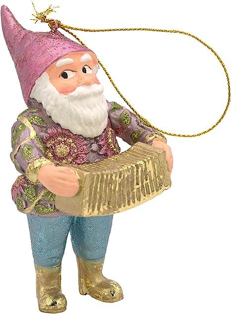 ecoSoul Enano de jardín Enanito Navidad decoración árbol Figura Colgante Adorno de Navidad 11 cm (con acordeón): Amazon.es: Hogar