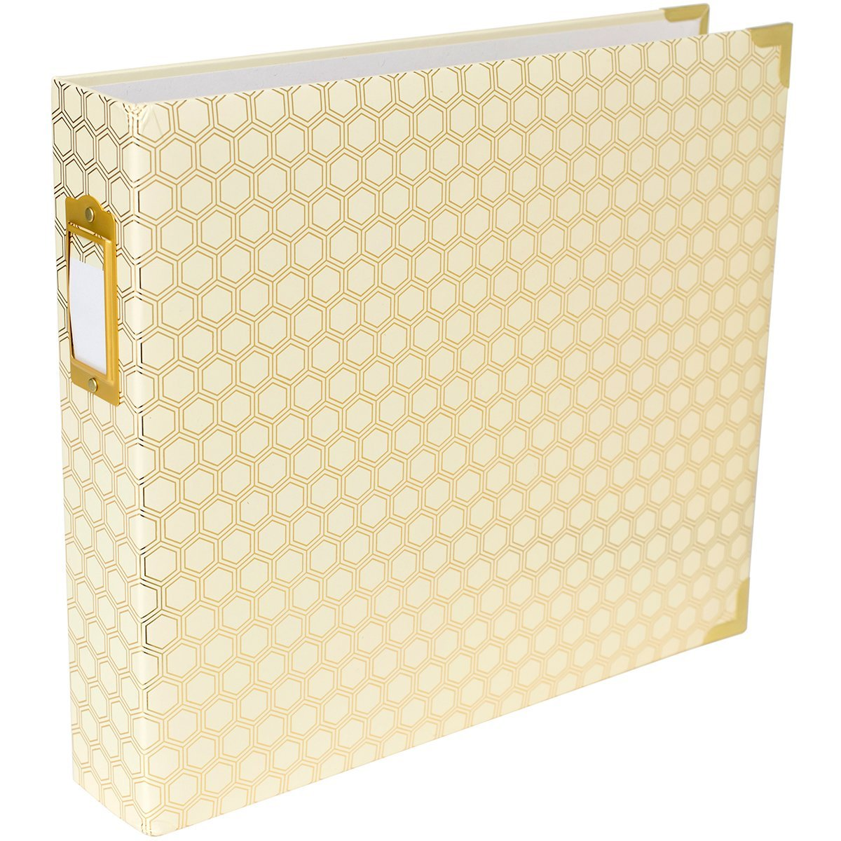 Project Life Album 12 x 12-Designer-Honeycomb-Gold Foil by Project Life