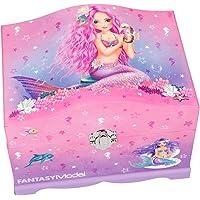 Depesche 10481 mücevher kutusu Fantasy model deniz kızı, ışıklı, pembe, renkli