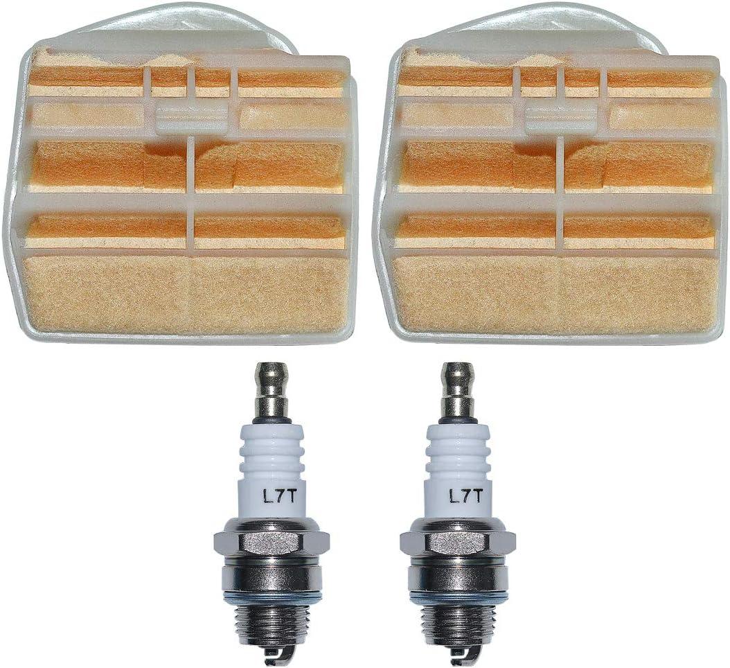 AUMEL Kit de bujías de Filtro de Aire para Husqvarna 445 445E 450 450E Jonsered 2250 2245 Motosierra Reemplace 544080802.