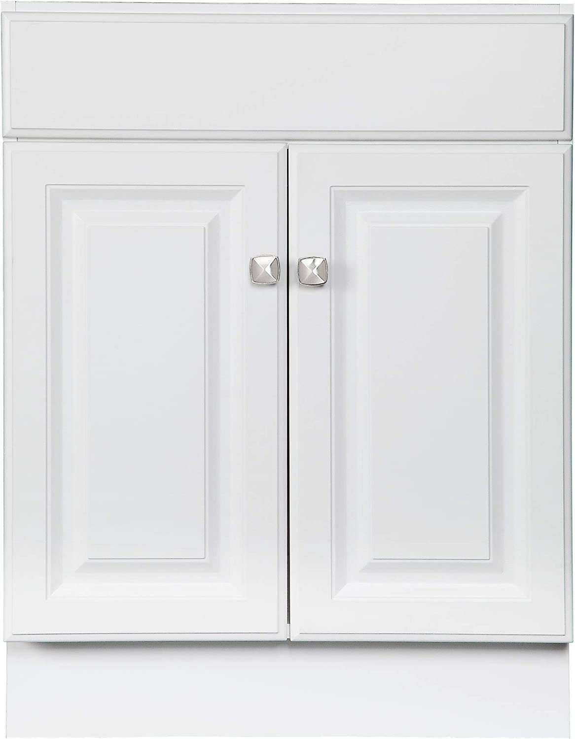 Design House 597120 Wyndham Unassembled Bathroom Vanity Cabinet without Top 8-Inch Widespread White