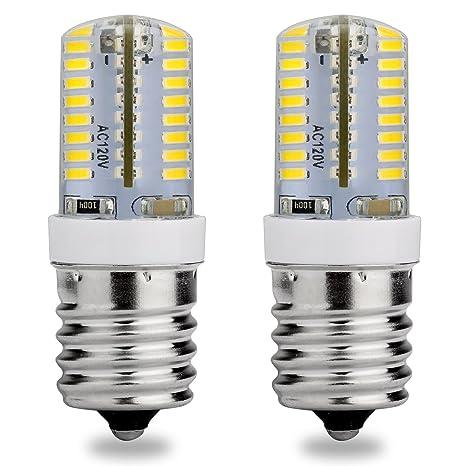 E17 Base intermedia bombilla LED, 120 V AC, luz blanca, 6000 K,