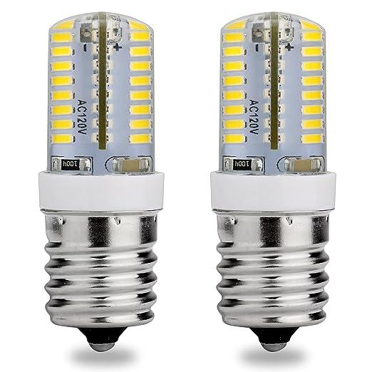 E17 Base intermedia bombilla LED, 120 V AC, luz blanca, 6000 ...