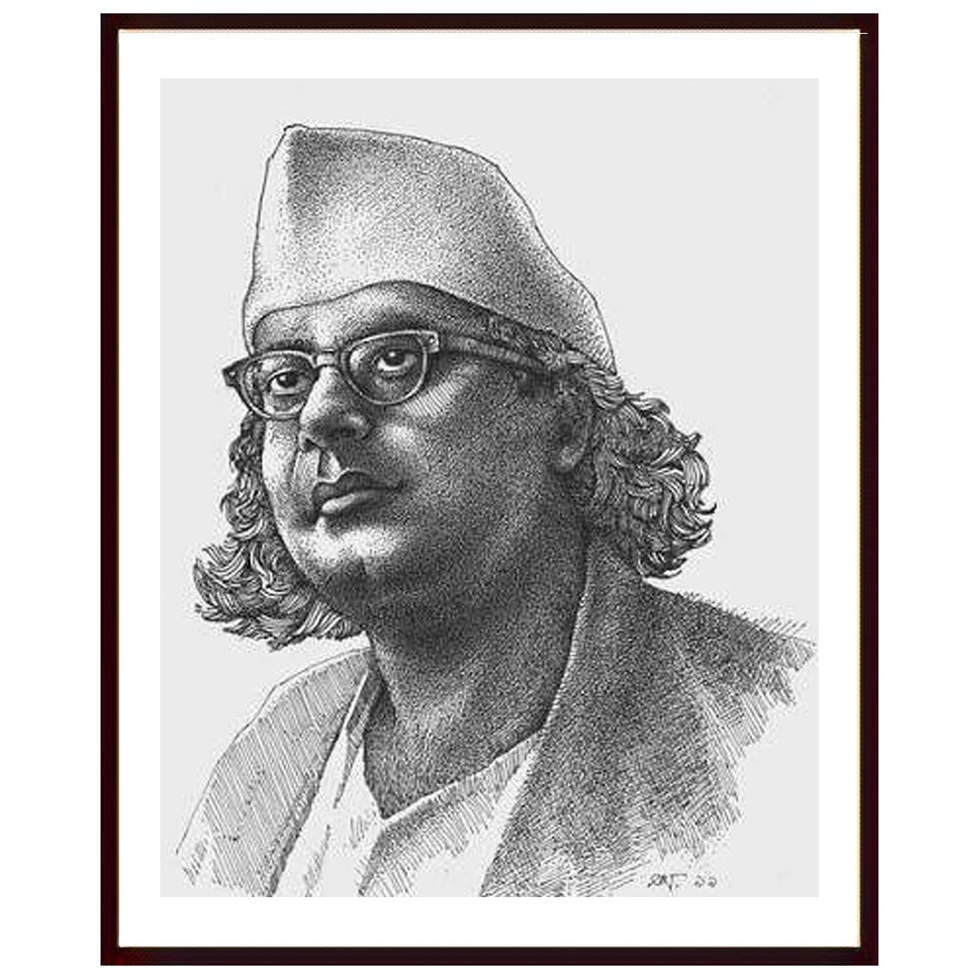 Shyam Framing Art Pencil Sketch Of Freedom Fighter Photo Frame Wall Frame Exclusive With Matte Finished Print Poster With Fiber Wood Frame Without Glass Frame For Living Room Kitchen Office Lobby