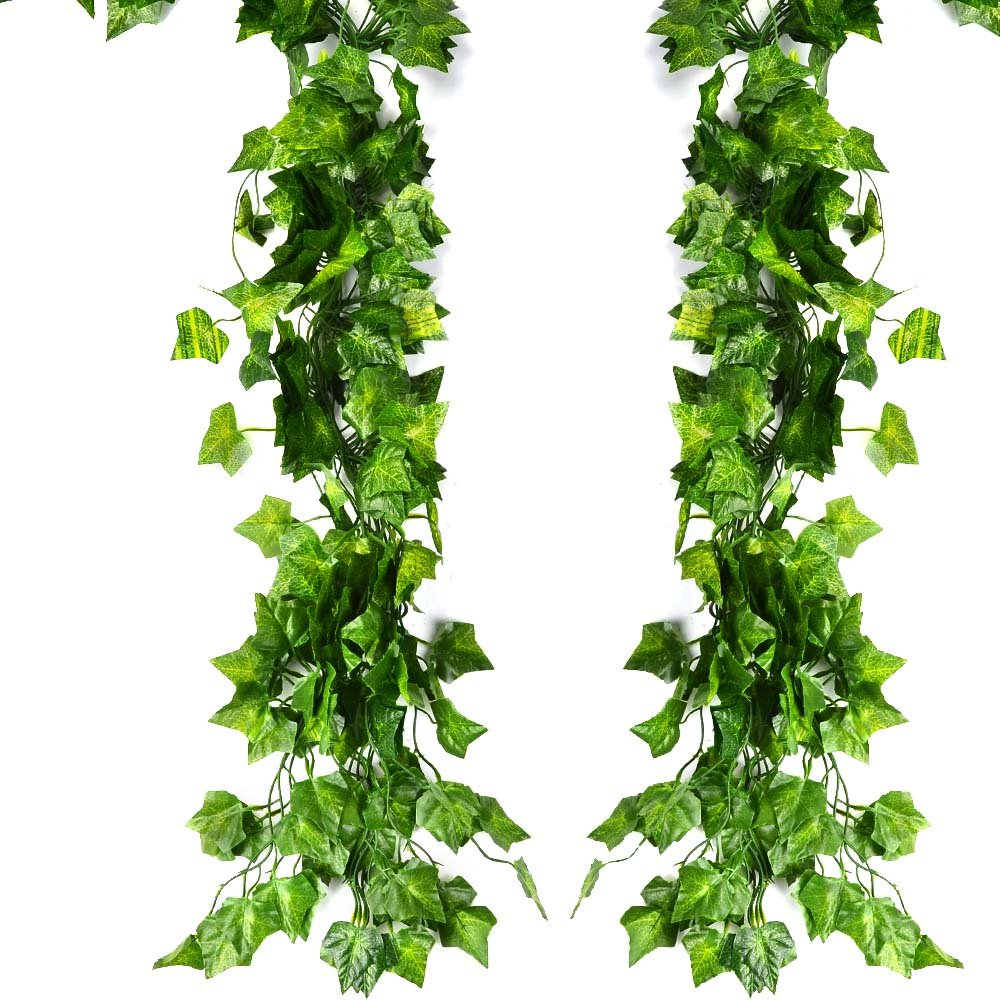 Artificial Ivy, ATPWONZ 12PCS (78 inches) Artificial Greenery Fake English Ivy Hanging Wedding Garland, Home Garden Office Christmas Decoration Accessories