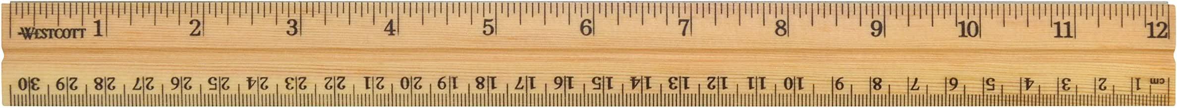 Westcott 10377 12 WD School Ruler Wood