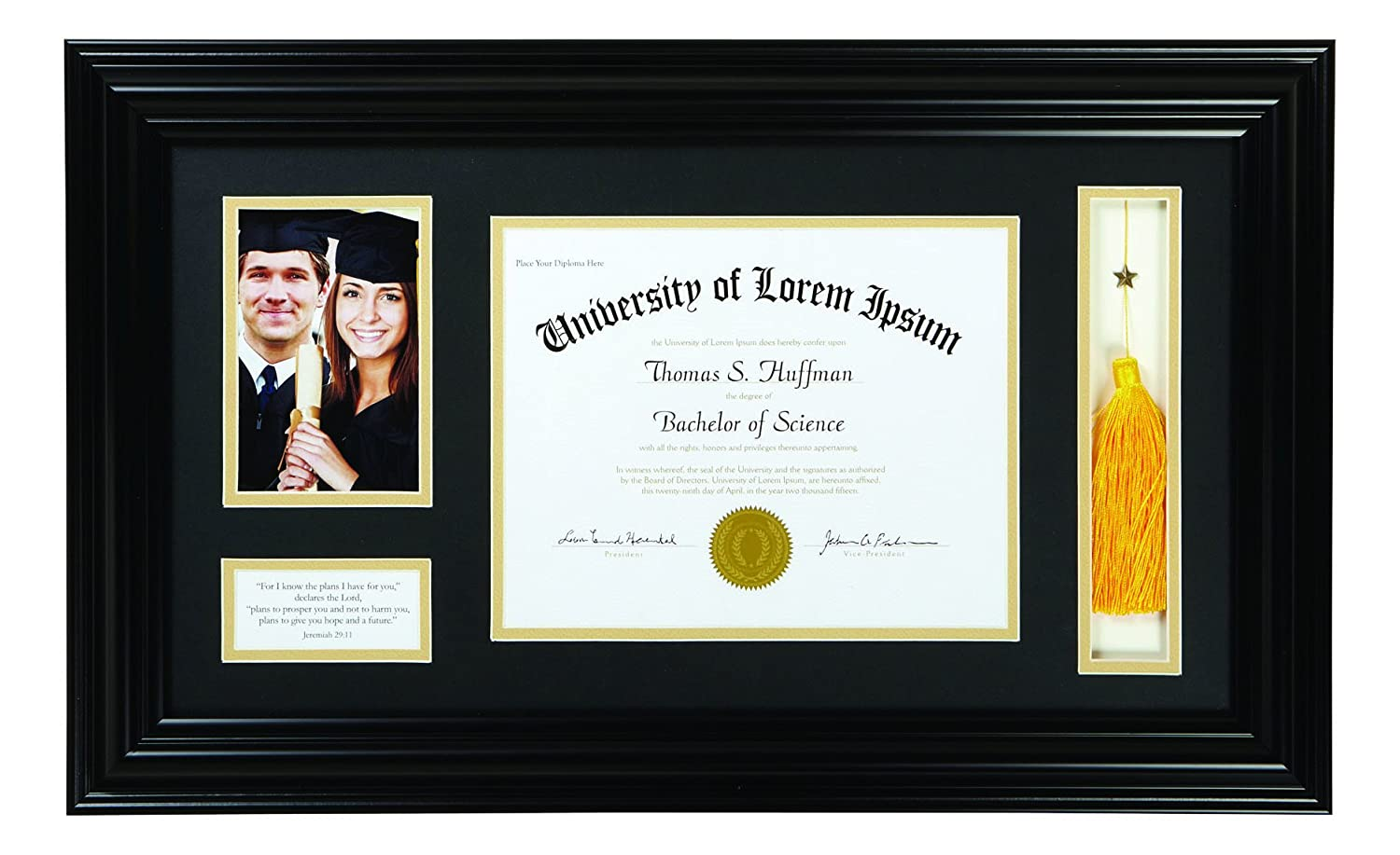 Faithworks Heartfelt Graduation Keepsake Frame, Jeremiah 29:11, 15 x 25