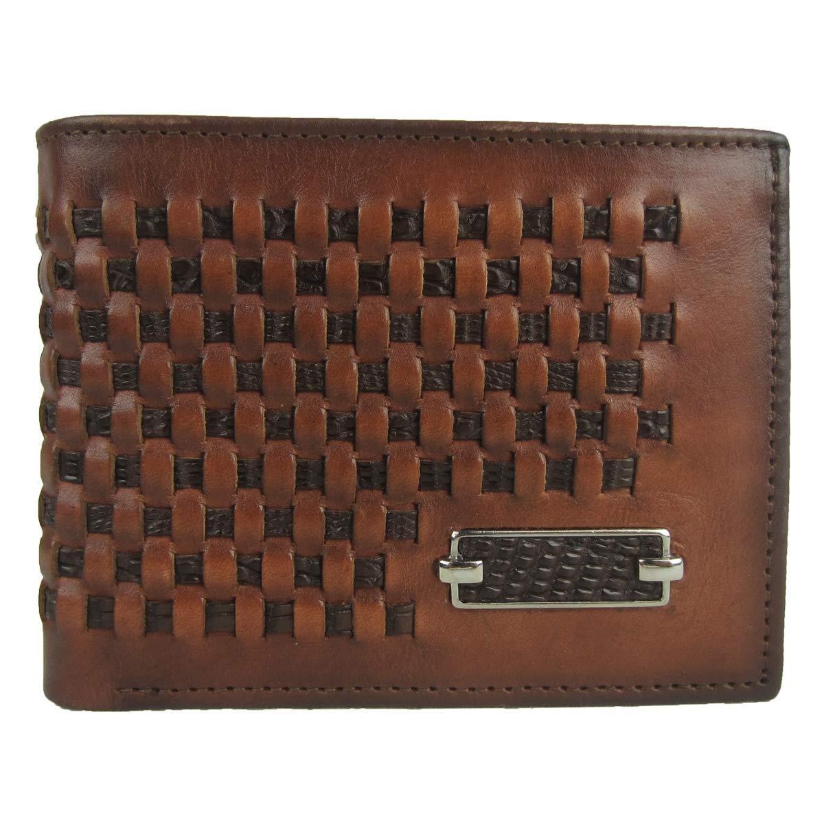DU168 Cuadra Brown Teju Lizard and Bovine Leather Exotic Bifold Wallet
