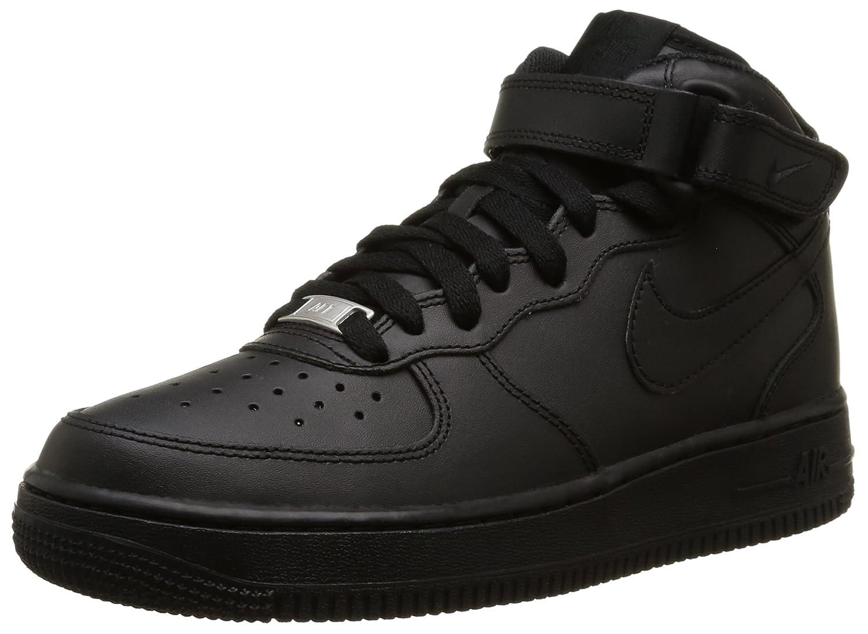 NIKE Boy's Air Force 1 Mid Basketball Shoe B002KRI5H6 3.5 UK|Black/Black