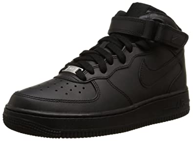 on sale 7039e add5e Nike AIR FORCE 1 MID (GS), Unisex-Kinder Sneakers, Schwarz ,