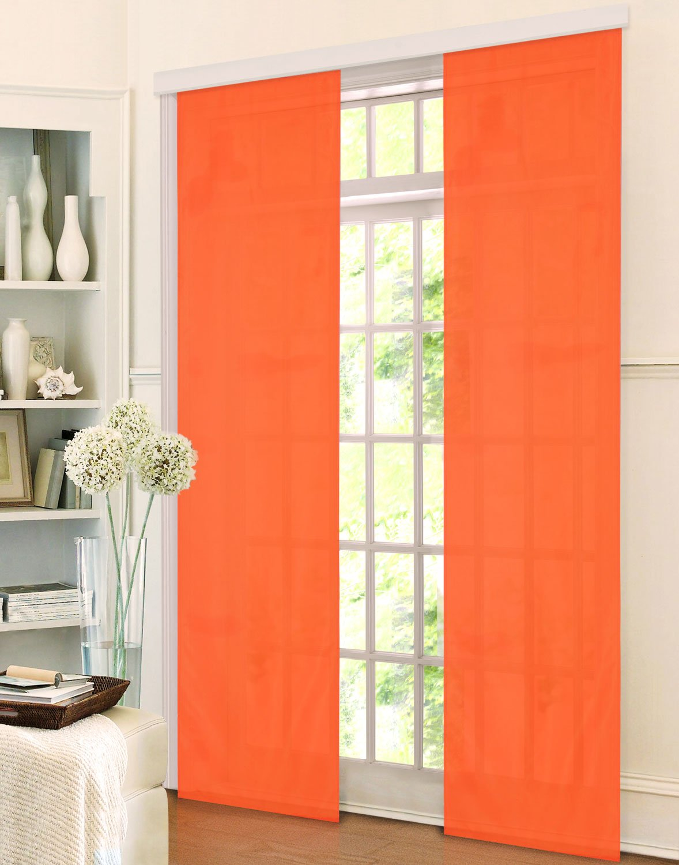 schiebegardinen orange stroyreestr. Black Bedroom Furniture Sets. Home Design Ideas
