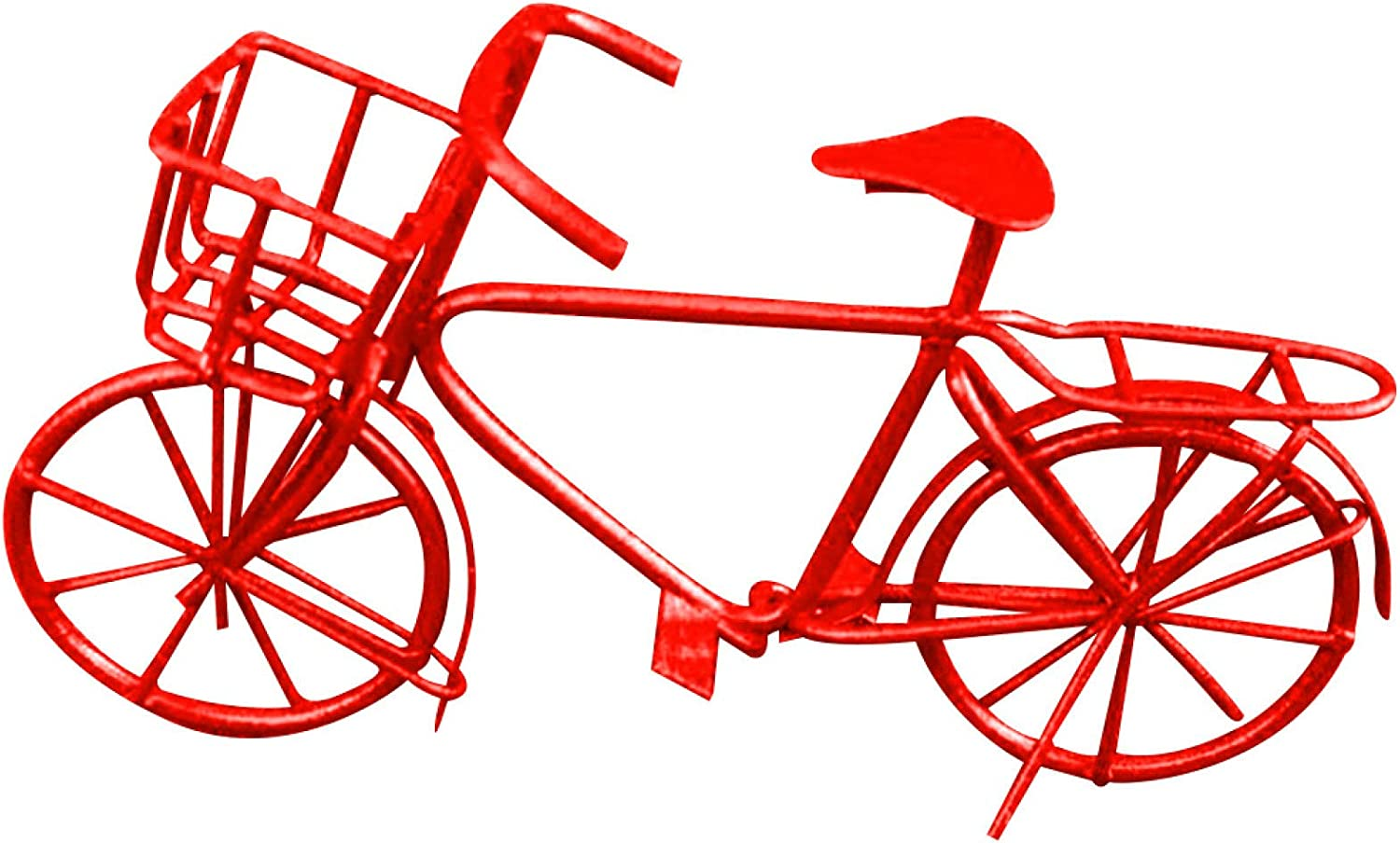 xxiaoTHAWxe Dollhouse Decoration Accessories, Doll House Miniature Furniture,1/12 Scale Metal Mini Bike Bicycle Miniature Doll House Desktop Ornament Toy - Red