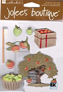 Jolee's Boutique Harvest Dimensional Stickers, Apple Picking