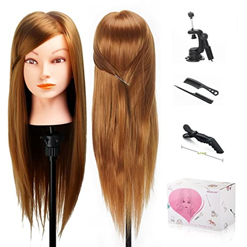 Hairdressers Training Head Dummy Long Hair Including Clamp