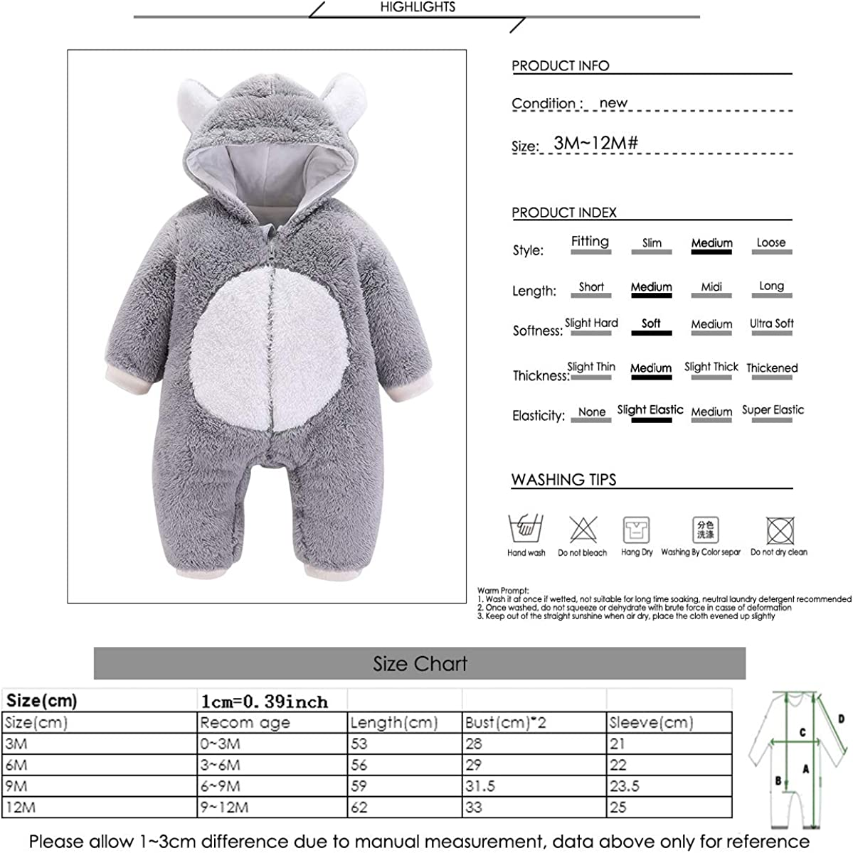 Soft May The Forest BE with You Onesies U99oi-9 Long Sleeve Cotton Rompers for Baby Boys and Girls