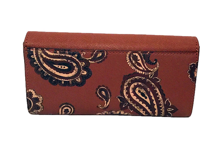 20497ba1bea9 Amazon.com  Michael Kors Bridgette Flap Wallet Gold Tone Push Lock Luggage   FastStork
