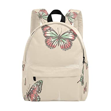 1dfe70799a Image Unavailable. Image not available for. Color  MAPOLO Butterflies  Lightweight Travel School Backpack for Women Girls Teens Kids