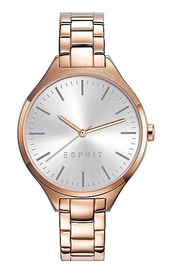 ESPRIT Reloj Analógico para Mujer de Cuarzo con Correa en Acero Inoxidable ES109272006: ESPRIT Kollektion 2017: Amazon.es: Relojes