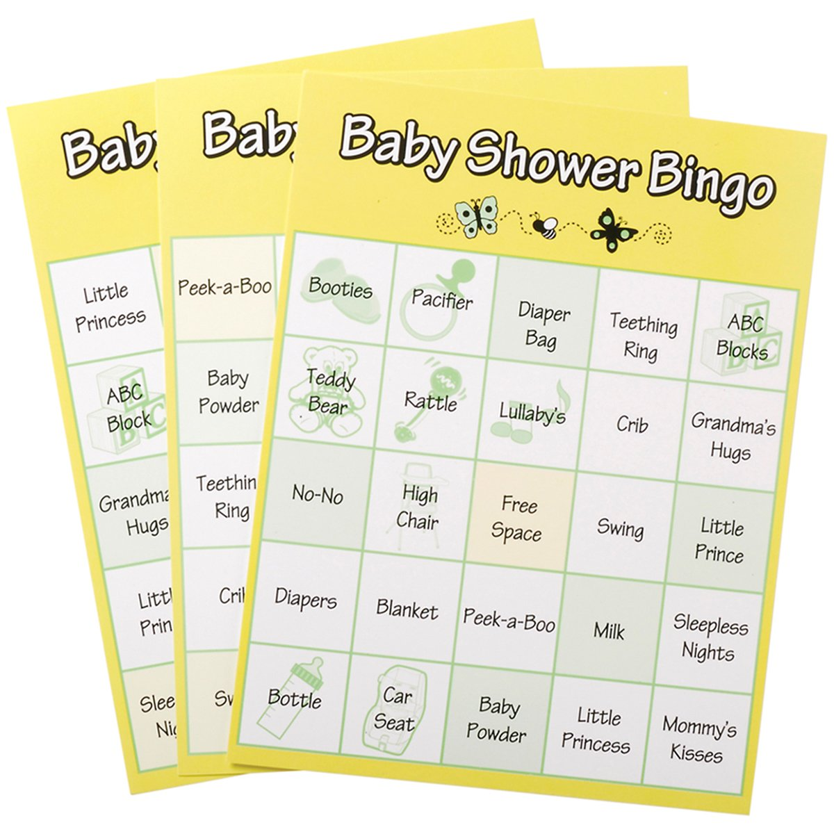 Amazon 24 Baby Shower Game Bingo Cards Sports Outdoors