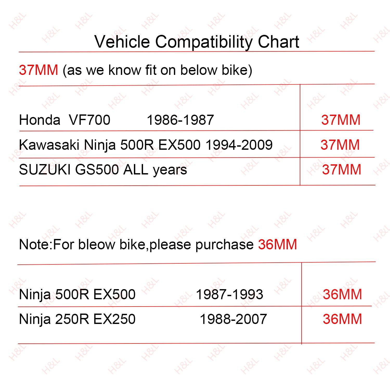motorcycle Clip ons Handlebar 41mm /Φ replacement Fit for Honda CBR500R//CBR600F 1987-1998//GSF 400//600 bandit//SV650 Universal cafe Racer Tilt Angle 8/° 7//8 bars riser Clip-ons Assembly Black