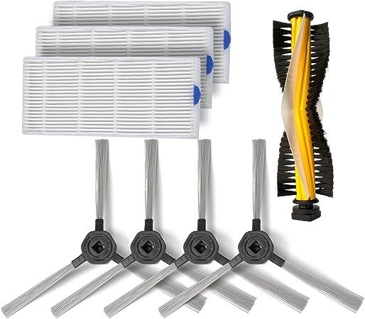 Consumibles Accesorios conjunto para Dibea D960 Robot Aspirador,3 filtros de HEPA,2 pares de cepillos laterales,1 rodillo helicoidal con ceerdas: Amazon.es: Hogar