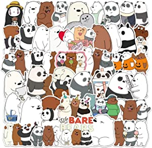 Cartoon Anime Stickers XUAN 100pcs Cute Bare Bear Stickers Waterproof Stickers for Adults Teens Kids Laptop Luggage Snowboard Pad