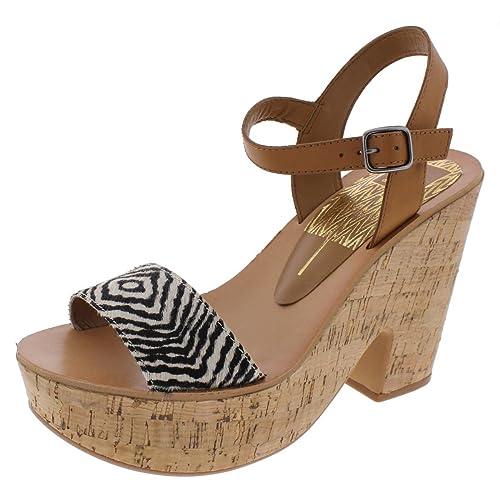 5be6a67435d Amazon.com  Dolce Vita Womens Randi Cork Open Toe Platform Sandals Tan 9.5  Medium (B